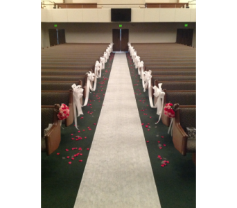 Pew Bows in Kissimmee FL, Golden Carriage Florist