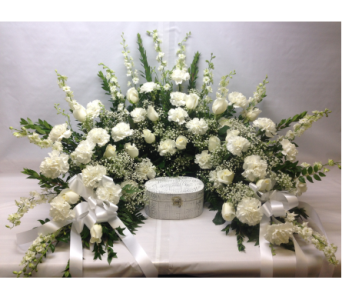 Filer's All White Horseshoe in Cleveland OH, Filer's Florist Greater Cleveland Flower Co.