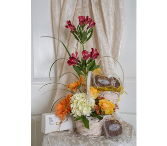 The Island Basket Arrangement with Fudge in Sarasota FL, Flowers By Fudgie On Siesta Key