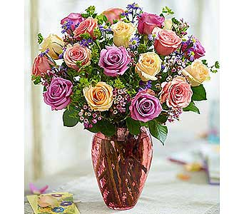 Rose Lovers Bouquet Long Stem Assorted Roses in El Cajon CA, Conroy's