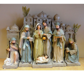 Vintage Nativity- Set of 5 Pieces in Tampa FL, Buds, Blooms & Beyond