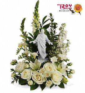Porcelain Sculpture of Jesus Bouquet in Cornwall ON, Fleuriste Roy Florist, Ltd.