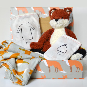 Organic Keepsake Set   Jellycat Fox in Dallas TX, Dr Delphinium Designs & Events