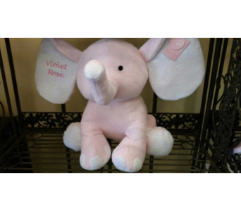 Large Plush Pink Elephant$55 in Mamaroneck - White Plains NY, Mamaroneck Flowers
