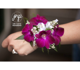 Purple Dendrobium Orchid Corsage in Winchester VA, Flowers By Snellings