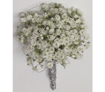 Million Star Gypsophilia & Silver Boutonniere in Wyoming MI, Wyoming Stuyvesant Floral