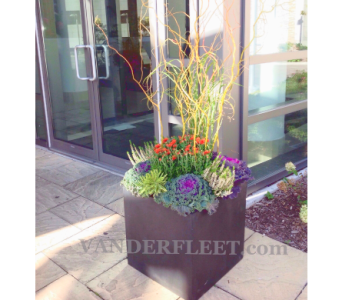 FAll Outdoor Planter - Traditional Design in Etobicoke ON, VANDERFLEET Flowers