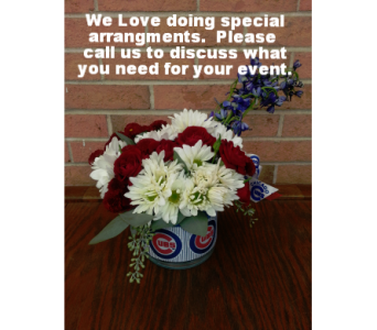 Chicago Cubs Bouquet in Evanston IL, West End Florist & Garden Center Inc.