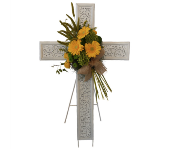 Everlasting Cross Easel in Dallas TX, In Bloom Flowers, Gifts and More
