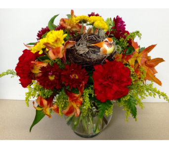 Nesting Bird Ivy Bowl Arrangement - All-Around in Wyoming MI, Wyoming Stuyvesant Floral