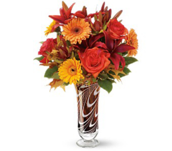 Teleflora's Swirls of Autumn Bouquet in Bellevue PA, Fred Dietz Floral