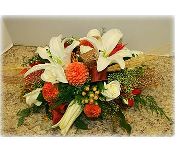 Harvest Fields Centerpiece in Asheville NC, Kaylynne's Briar Patch Florist, LLC