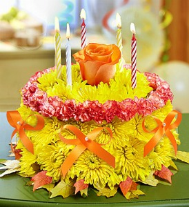 Fall Birthday Flower Cake  in Lemont IL, Royal Petals