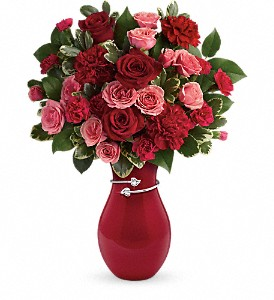 Teleflora's Hearts Entwined Bouquet in Chino Hills CA, All That Blooms