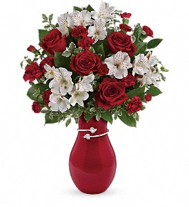 Teleflora's Pair Of Hearts Bouquet in Flint MI, Royal Gardens