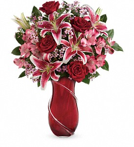 Teleflora's Wrapped With Passion Bouquet in Yuba City CA, Elegante' Petals