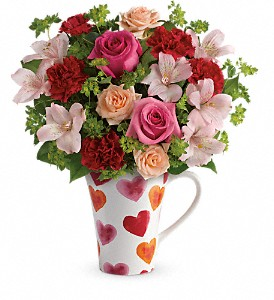 Teleflora's Hearts And Hugs Bouquet in New Milford PA, Forever Bouquets By Judy