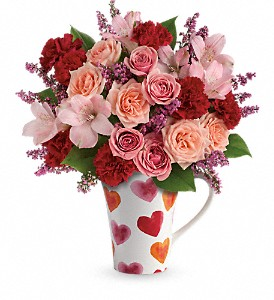 Teleflora's Lovely Hearts Bouquet in Winter Haven FL, Flowers From The Heart