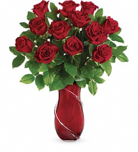 Teleflora's Wrapped In Roses Bouquet in Flint MI, Royal Gardens