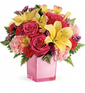 Teleflora's Pop Of Fun Bouquet in Redwood City CA, A Bed of Flowers
