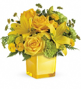 Teleflora's Sunny Mood Bouquet in Muskogee OK, Basket Case Flowers From the Pharm