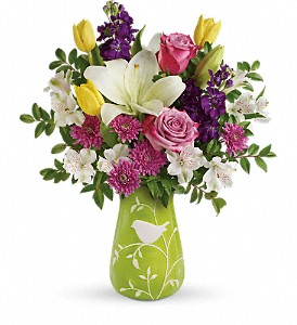 Teleflora's Veranda Blooms Bouquet in Wausau WI, Blossoms And Bows