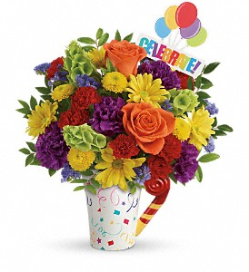 Teleflora's Celebrate You Bouquet in Lewiston ME, Val's Flower Boutique, Inc.