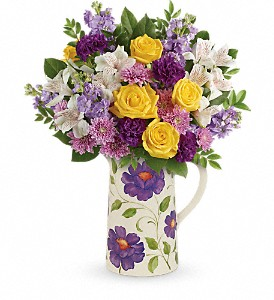 Teleflora's Garden Blossom Bouquet in Fairfield CA, Flower Basket