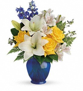 Teleflora's Oceanside Garden Bouquet in Oakland MD, Green Acres Flower Basket