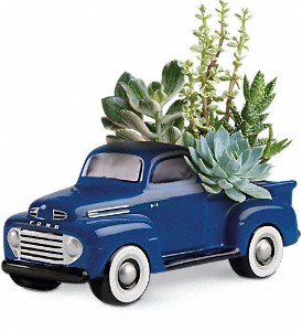 His Favorite Ford F1 Pickup by Teleflora in Riverside CA, Mullens Flowers