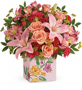 Teleflora's Brushed With Blossoms Bouquet in San Jose CA, Rosies & Posies Downtown