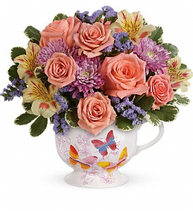 Teleflora's Butterfly Sunrise Bouquet in Albany, Corvallis & Lebanon OR, The White Rose at Garland Nursery