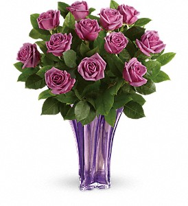 Teleflora's Lavender Splendor Bouquet in Los Angeles CA, La Petite Flower Shop