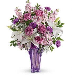 Teleflora's Lavished In Lilies Bouquet in Indio CA, Aladdin's Florist & Wedding Chapel