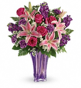 Teleflora's Luxurious Lavender Bouquet in The Woodlands TX, Rainforest Flowers