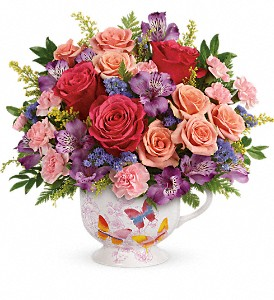 Teleflora's Wings Of Joy Bouquet in Olympia WA, Artistry In Flowers