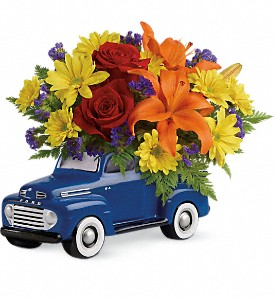 Vintage Ford Pickup Bouquet by Teleflora in Jackson WI, Sonya's Rose Creative Florals
