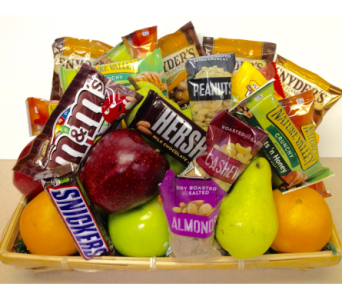 Grab n' Go Fruit and Snack Basket in Wyoming MI, Wyoming Stuyvesant Floral