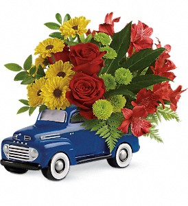 Glory Days Ford Pickup by Teleflora in Indio CA, Aladdin's Florist & Wedding Chapel