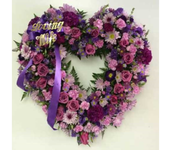 Open Heart Purple & Lavender in Belford NJ, Flower Power Florist & Gifts