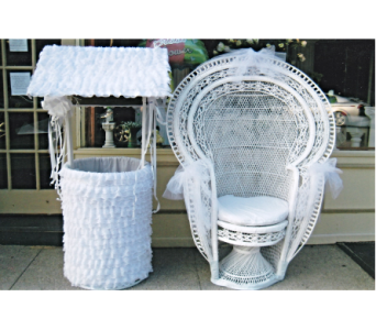 Rental Chair & Wishing Well in Huntington NY, Queen Anne Flowers, Inc