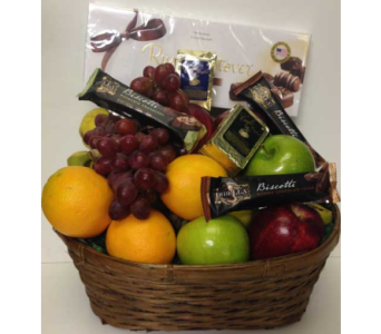 Traditional Fruit, Coffee and Chocolates Basket in Wyoming MI, Wyoming Stuyvesant Floral