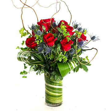 Tall Thistle & Rose Dozen in Nashville TN, Emma's Flowers & Gifts, Inc.