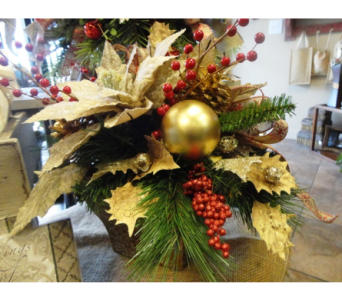 Silk Holiday Arrangement in Tampa FL, Buds Blooms & Beyond