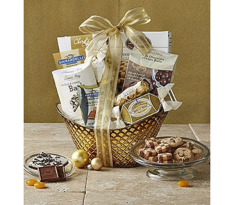Gilded Splendor Gift Basket in Bayside NY, Bell Bay Florist