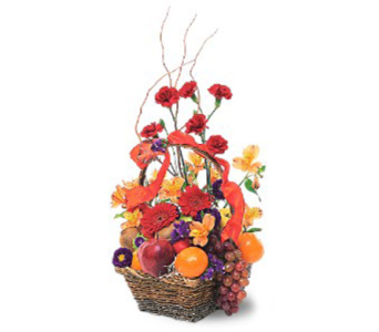 Fruits and Flowers Basket in Portland OR, Portland Florist Shop