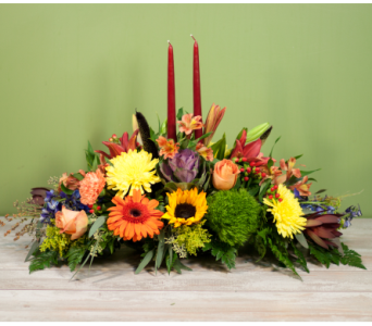 Long Island Thanksgiving Centerpiece in Merrick NY, Feldis Florists