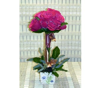 Rose Topiary in Dallas TX, Petals & Stems Florist
