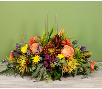 The Garden City Thanksgiving Centerpiece in Merrick NY, Feldis Florists