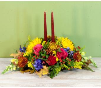 The Merrick Thanksgiving Centerpiece in Merrick NY, Feldis Florists